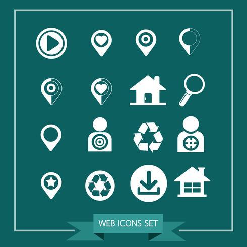 Set av webbikoner för webbplats och kommunikation vektor