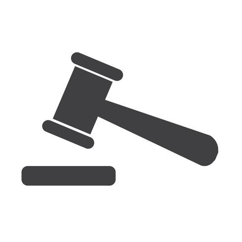 Auktion ikon tecken illustration vektor