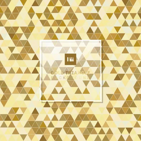 Abstrakt gyllene geometriska triangelmönster bakgrund lyxstil. vektor