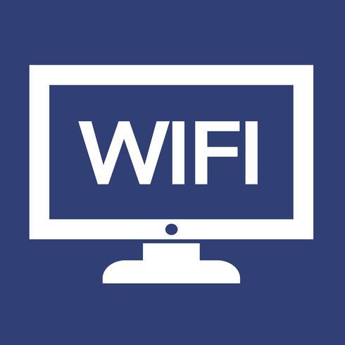 wifi tv ikon design Illustration vektor