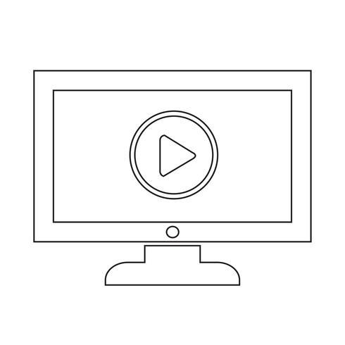 play button tv icon design illustration vektor