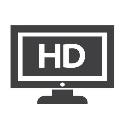 HD-tv-ikondesign Illustration vektor
