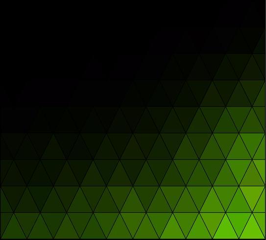 Green Square Grid Mosaic bakgrund, kreativa design mallar vektor