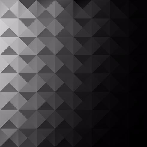 Schwarzer Gitter-Mosaik-Hintergrund, kreative Design-Schablonen vektor