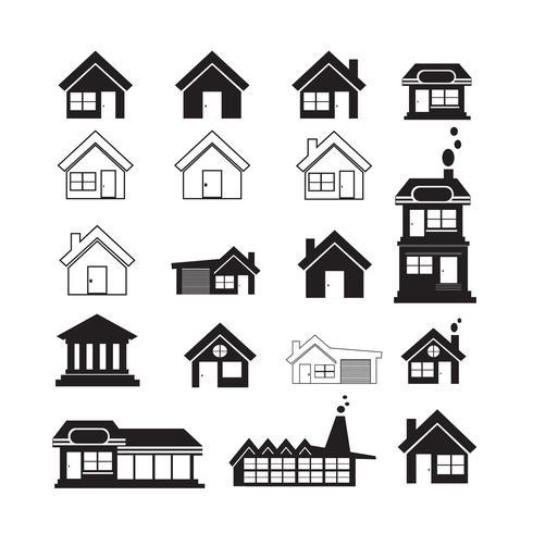 Immobilien Icons set vektor