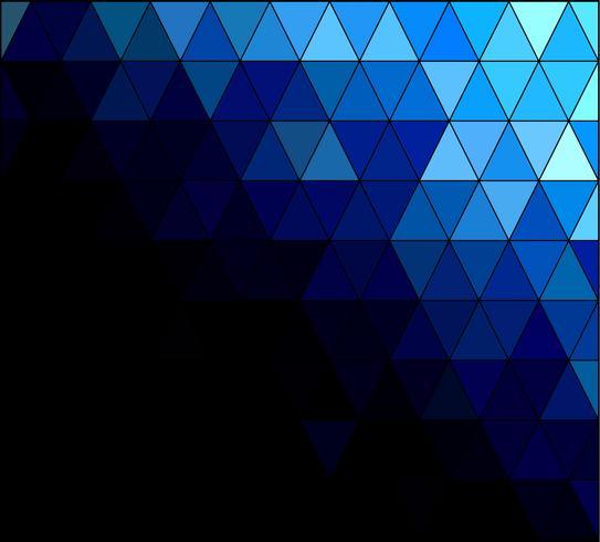 Blue Square Grid Mosaic bakgrund, kreativa design mallar vektor
