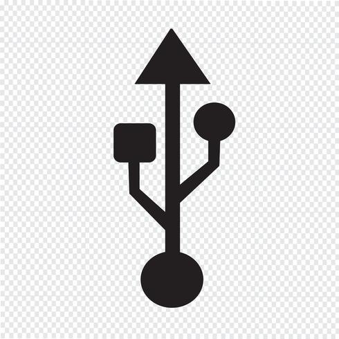 USB-Symbol Symbol Zeichen vektor