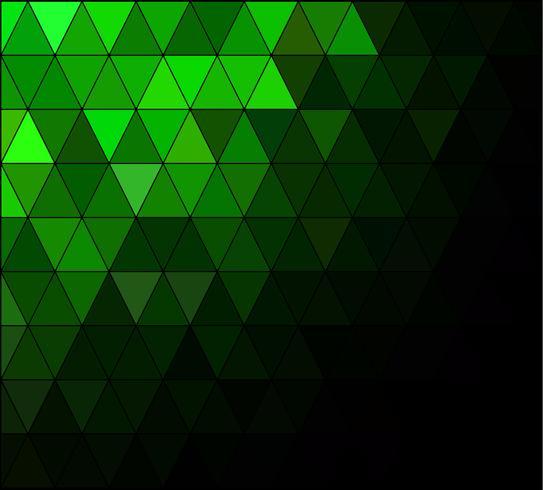 Grüner quadratischer Gitter-Mosaik-Hintergrund, kreative Design-Schablonen vektor