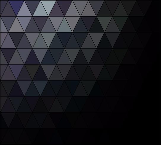 Mosaik-Hintergrund des schwarzen Quadrats Gitter, kreative Design-Schablonen vektor