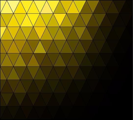 Gul Square Grid Mosaic Bakgrund, kreativa design mallar vektor