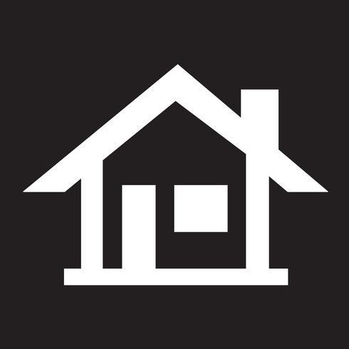 Hem ikon symbol tecken vektor