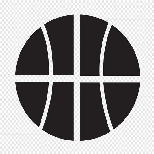 Basketball Symbol Symbol Zeichen vektor