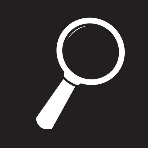 Suche Symbol Symbol Zeichen vektor