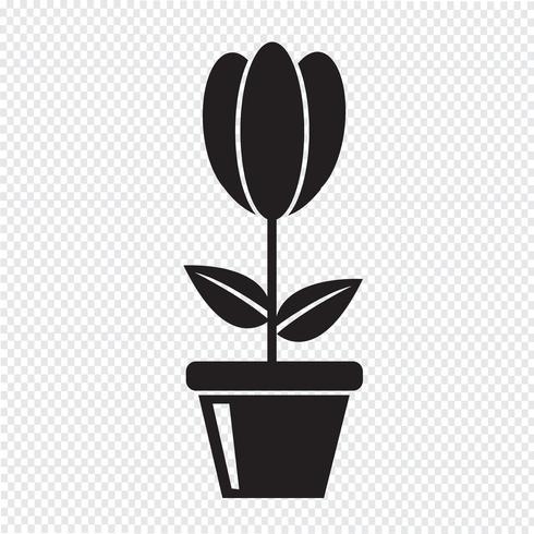 blomma ikon symbol tecken vektor