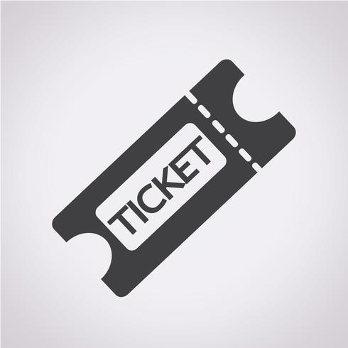 Ticket Symbol Symbol Zeichen vektor