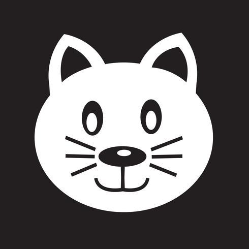 Katze Symbol Symbol Zeichen vektor