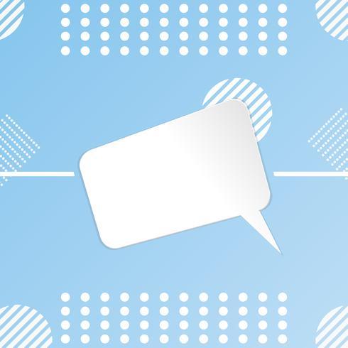 Paper Cut weiße Vorlage Design leer Banner Plakat Verkauf am Himmel Hintergrundfarbe. Design-Vektor-Illustration vektor