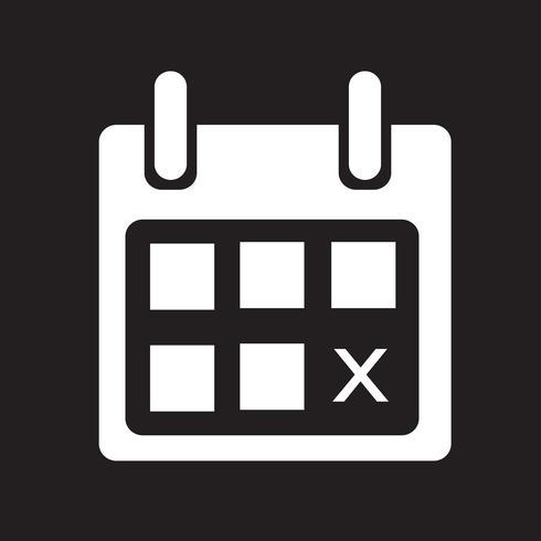 Kalendersymbol Symbol Zeichen vektor