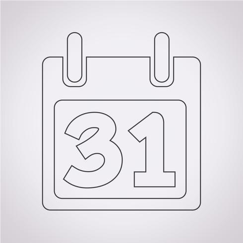 Kalender Symbol Symbol Zeichen vektor