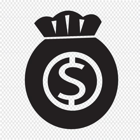 Pengar ikon symbol tecken vektor
