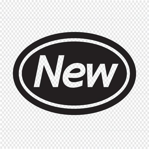 Ny ikon symbol tecken vektor