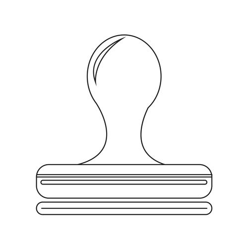 Stämpel ikon symbol tecken vektor
