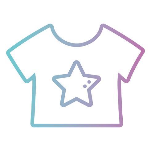 Linie Babyt-shirt Stoffentwurf vektor