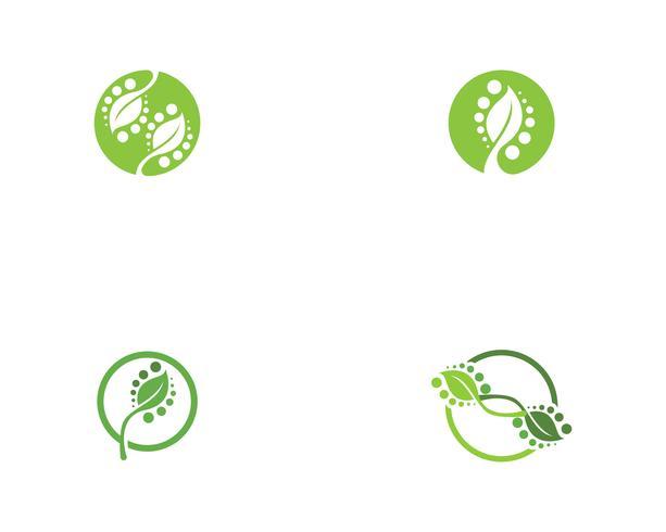 ekologi logotyp naturelement vektor
