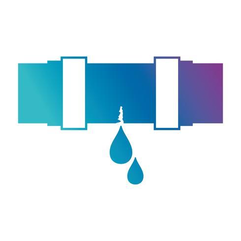 Silhouette Sanitär Rohrreparatur Ausrüstung Bau vektor