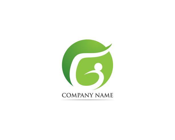 G-People-Logo-Vektor-Vorlagen vektor
