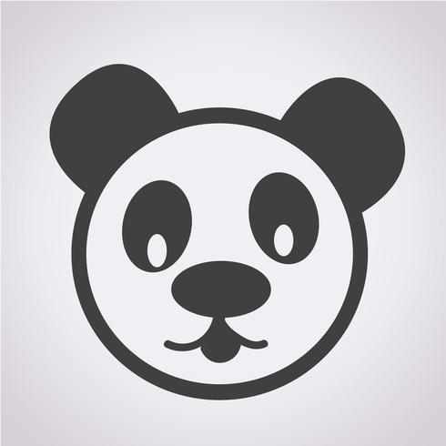 Panda Icon Symbol Zeichen vektor