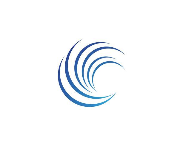 Wasserwelle Logo Template-Vektorillustrationsdesign vektor