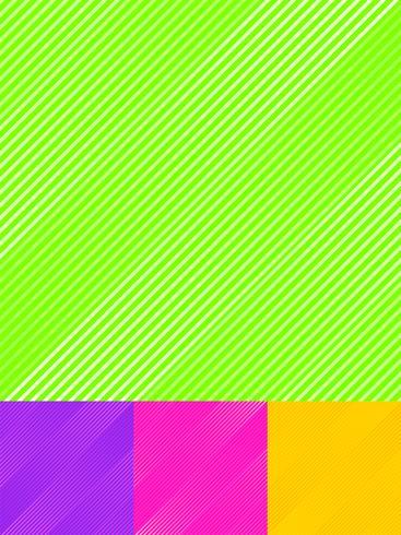Satz gestreifte diagonale Linien kopieren bunten hellen Farbhintergrund und -beschaffenheit. vektor