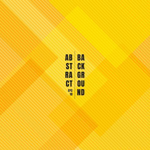 Abstrakte gelbe geometrische Quadrate, die mit diagonalen Linien Musterbeschaffenheit und -hintergrund überschneiden. vektor