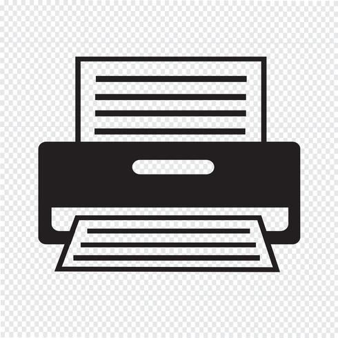 Skrivare Ikon symbol tecken vektor