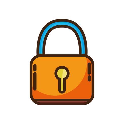 Vorhängeschloss-Sicherheitsschutzobjekt für Datenschutzinformationen vektor