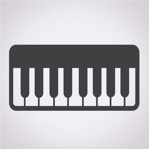Piano Icon Symbol Zeichen vektor