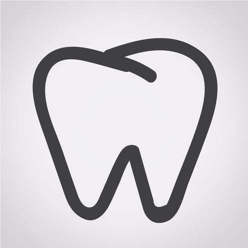 Tooth Icon Symbol Zeichen vektor