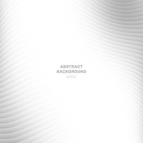 Abstrakt vågkurva randig skiktad vit och grå färgfärg bakgrund på vit bakgrund med kopia utrymme. vektor