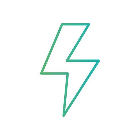 linje energifaransymbol elkraft vektor
