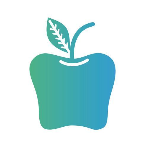 Linie köstliche Apfelfruchtnahrung vektor