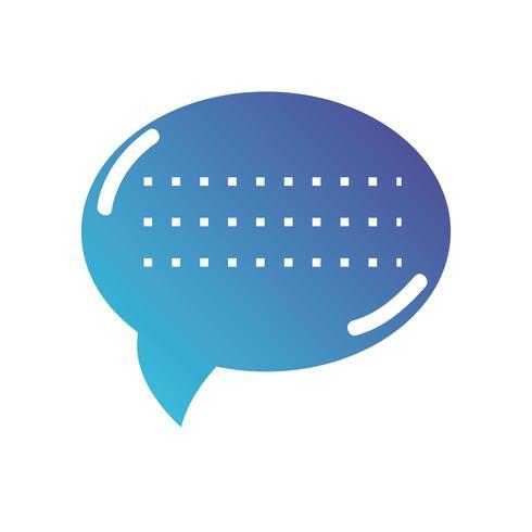Silhouette Chat Blase Textnachricht vektor
