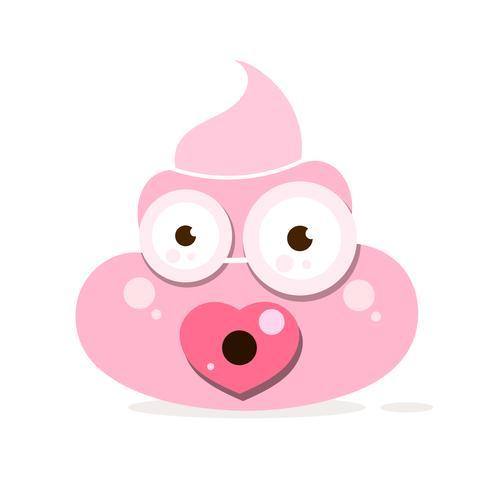 Cartoon Poop Vektor Icon auf weißem Hintergrund,