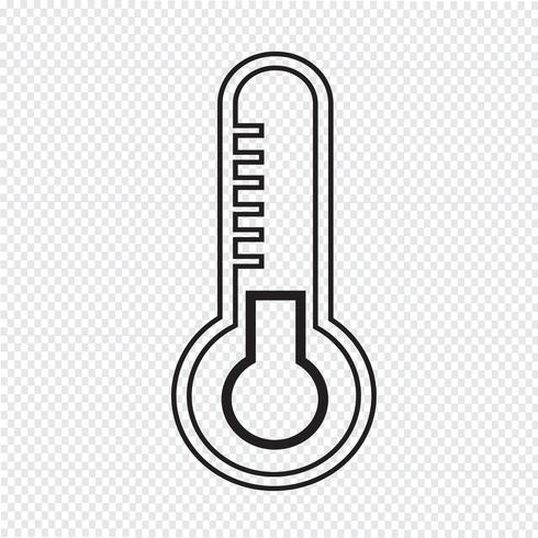 Termometer ikon symbol tecken vektor