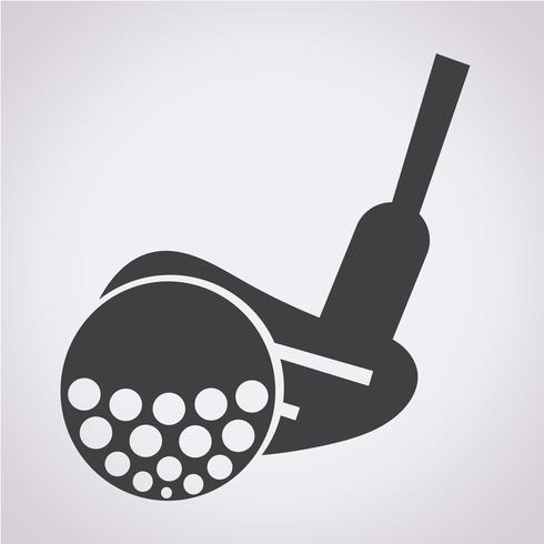 Golf Icon Symbol Zeichen vektor