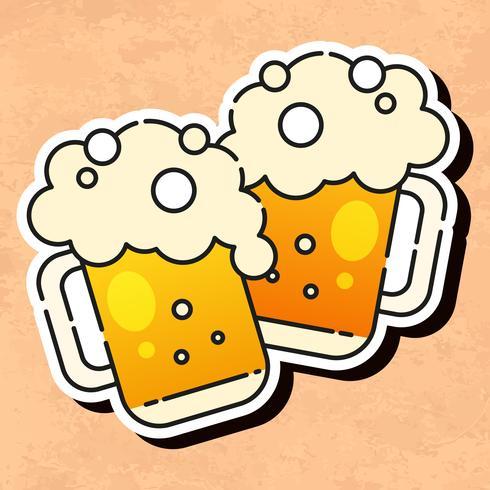 Kaltes Bier-Symbol bereit für Ihr Design, Grußkarte, Banner. Vektor-Illustration. vektor