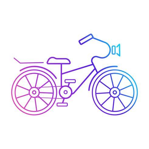 Cykelikon. Klar för din design, hälsningskort vektor