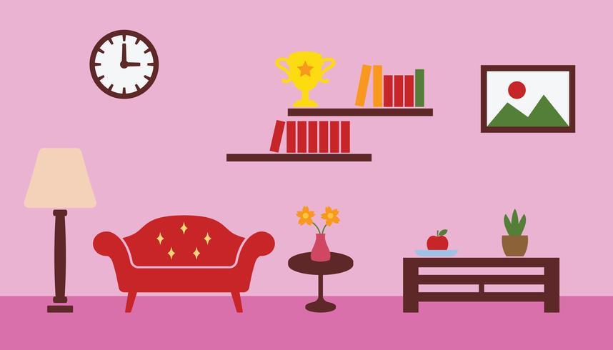 Wohnzimmer Vektor
