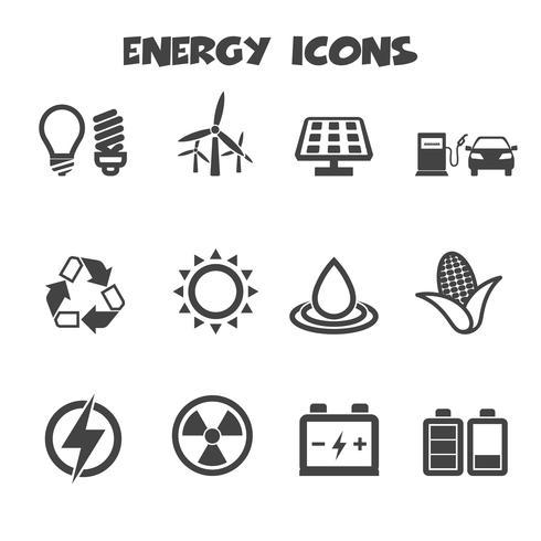 ikoner för energi ikoner vektor