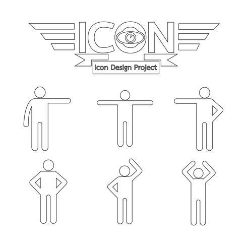 folk ikon symbol tecken vektor